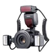 【顺丰包邮】永诺 YN24EX 微距环形闪光灯 口腔补光灯 双灯头 支持自动测光 佳能口