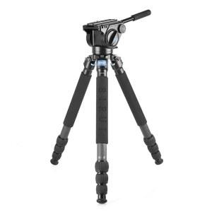 思锐R4214X+VH15支架液压云台 碳纤维便携摄影摄像大炮打鸟三脚架
