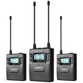 科唛CVM-WM300A UHF全金属一拖二无线麦克风(可充电锂电池版)