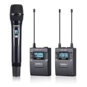 科唛CVM-WM300B UHF全金属一拖二无线麦克风(可充电锂电池版)