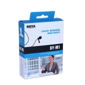 博雅 BY-M1领夹麦克风 专业摄像机话筒 单反手机采访录音全向型麦克风