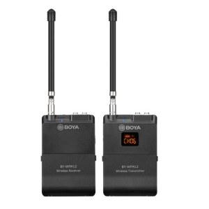 博雅 BY-WFM12无线话筒麦克风V段腰挂领夹无线话筒手机直播单反摄像机领夹式采访话筒 黑色