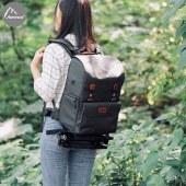 阿尔飞斯 单反相机包双肩佳能摄影包帆布索尼微单包侧开相机背包