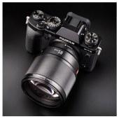 唯卓仕富士微单镜头85MM F1.8 STM自动对焦人像中远摄定焦相机X20 XF镜头 黑色