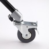 摄影灯架轮 带刹车 22mm套管脚轮 影棚灯轮子金属轮 三只装