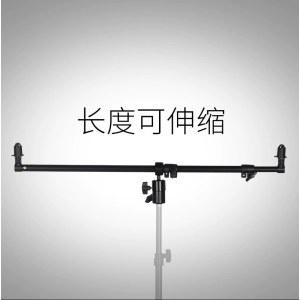 反光板支架夹子 三脚架/灯架可用云台360度调节角度 横杆长达1.2m