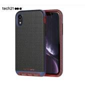 Tech21苹果新品iPhone Xr全包手机壳 6.1英寸保护套 轻奢皮质款时尚酷黑 摄像头保护 支持无线充电