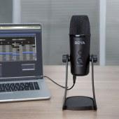 BOYA 博雅BY-PM700电脑麦克风 会议录制直播访谈录音话筒立体声USB接口收音麦克风 USB接口麦克风