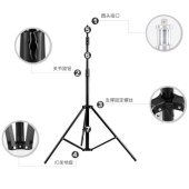影室闪光灯灯架 外拍灯灯架三脚架 三角架摄影器材 2.8米高度