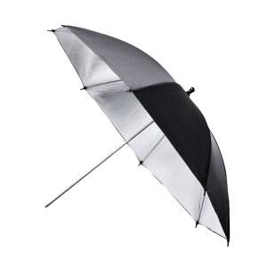 33寸黑银反光伞摄影伞摄影柔光道具 闪光灯摄影反光伞 不锈钢骨架