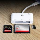 沣标OTG21苹果手机读卡器SD/TF/CF内存卡ipad接口iphone读卡器