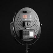 利帅 VR2500 大功率影视灯led摄影灯电影专业补光灯摄像外拍灯圆饼灯人像采访视频柔光灯