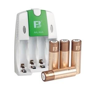 沣标 智能充电器配4节AA/5号镍氢可充电电池 儿童玩具 电动牙刷 无线鼠标 剃须刀 麦克风 FB18+AA2600mAh*4充电套装