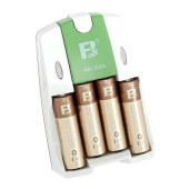 沣标(FB)智能充电器配4节AA/5号镍氢可充电电池 儿童玩具 电动牙刷 无线鼠标 剃须刀 麦克风 FB18+AA2600mAh*4充电套装